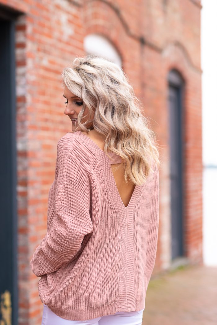 The Perfect Blush Pink Sweater for Valentine's Day