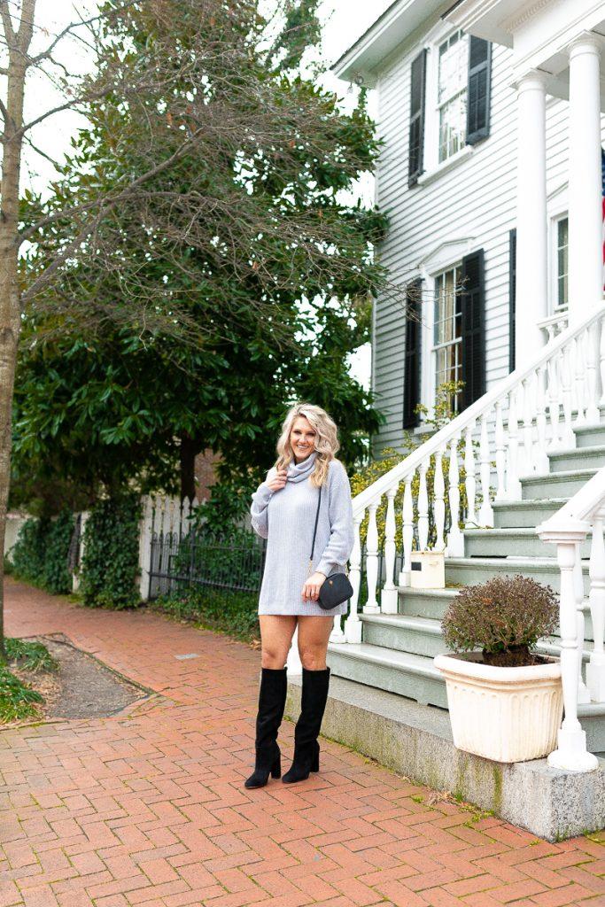 winter-fashion-pinterest-2019-loose-sweater-dress-gray-chelsea-adams-blog-revolve-dress-lenox-dress-turtleneck-winter-outfit-idea-2019-loose-sweater-dress-womens-look-nordstrom-black-boots