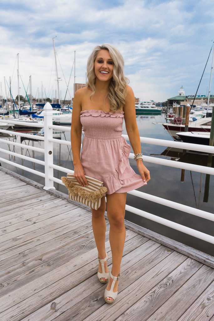 apricot-lane-ruffle-mini-dress-chasing-chelsea-virginia-beach-cute-spring-outfits
